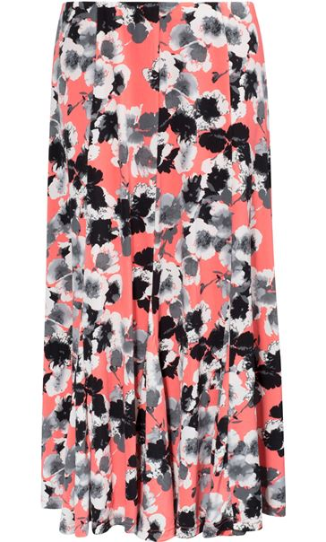 Anna Rose Panelled Floral Midi Skirt