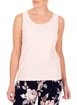 Anna Rose Lace Front Sleeveless Top Soft Pink - Gallery Image 1