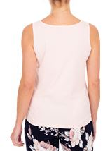 Anna Rose Lace Front Sleeveless Top Soft Pink - Gallery Image 2
