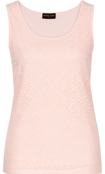 Anna Rose Lace Front Sleeveless Top Soft Pink - Gallery Image 4