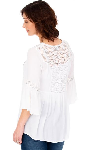 Embroidered Boho Top White - Gallery Image 2