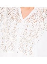 Embroidered Boho Top White - Gallery Image 3