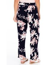 Anna Rose Printed Wide Leg Jersey Trousers Navy/Pink - Gallery Image 3