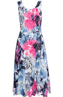 Anna Rose Bias Cut Floral Print Midi Dress