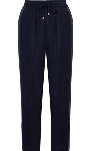 Anna Rose Pull On Tapered Trousers Blue