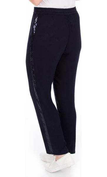 Anna Rose Pull On Tapered Trousers Blue - Gallery Image 3
