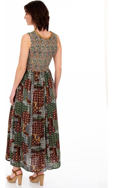 Sleeveless Printed Smocked Maxi Dress Multi - Gallery Image 2