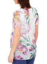 Anna Rose Embellished And Printed Lace Layer Top White/Multi - Gallery Image 2