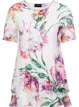 Anna Rose Embellished And Printed Lace Layer Top White/Multi - Gallery Image 3