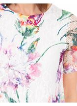 Anna Rose Embellished And Printed Lace Layer Top White/Multi - Gallery Image 4