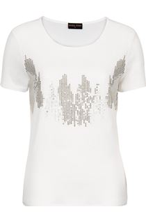 Anna Rose Sequin Chiffon Layered Top