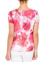 Anna Rose Floral Print Cowl Neck Top Hot Pink - Gallery Image 3