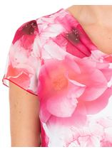 Anna Rose Floral Print Cowl Neck Top Hot Pink - Gallery Image 4