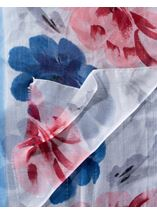 Anna Rose Floral Print And Ombre Lightweight Scarf Blue - Gallery Image 2