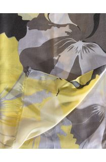 Large Floral Printed Lightweight Scarf - Yellow