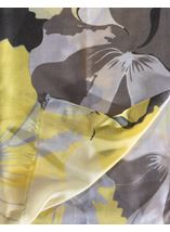 Large Floral Printed Lightweight Scarf Yellow - Gallery Image 2
