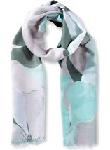 Large Floral Printed Lightweight Scarf