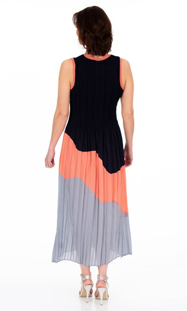 Sleeveless Colour Block Maxi dress Multi - Gallery Image 2