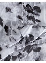 Floral Printed Lightweight Scarf Grey - Gallery Image 2