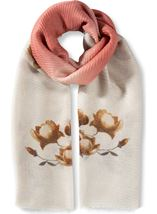 Floral And Ombre Shimmer Lightweight Scarf