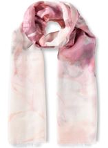 Anna Rose Printed Lightweight Scarf Pink - Gallery Image 1