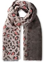 Animal Print Shimmer Lightweight Scarf