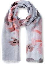 Anna Rose Floral Print And Ombre Lightweight Scarf
