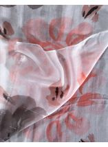 Anna Rose Floral Print And Ombre Lightweight Scarf Grey - Gallery Image 2