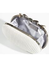 Glitter Shell Clutch Bag Silver - Gallery Image 1