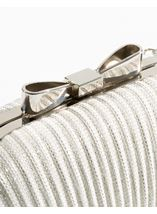 Glitter Shell Clutch Bag Silver - Gallery Image 2