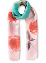 Anna Rose Floral Print Lightweight Scarf Blue - Gallery Image 1