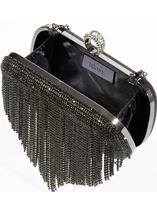 Embellished Tassel Glitter Box Clutch Bag