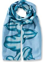 Lilly Printed Panel Lightweight Scarf