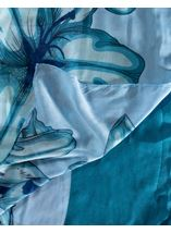Lilly Printed Panel Lightweight Scarf Blue - Gallery Image 2