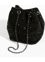 Embellished Clutch Bag Black - Gallery Image 1