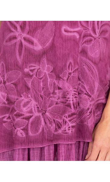 Sleeveless Embroidered Layer Top Pink - Gallery Image 3