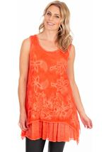 Sleeveless Embroidered Layer Top