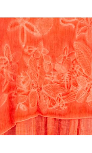 Sleeveless Embroidered Layer Top Deep Coral - Gallery Image 3