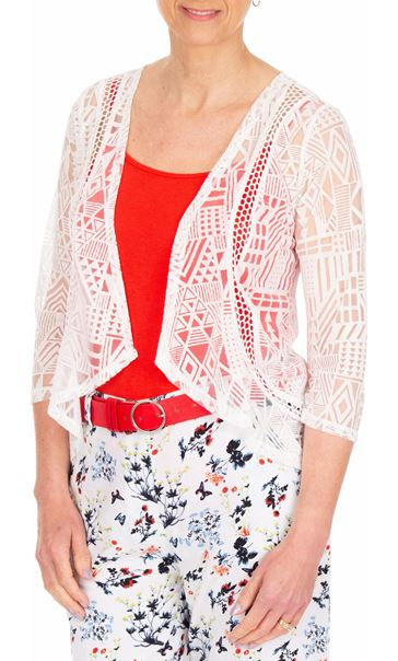 Anna Rose Open Cover Up White