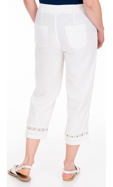 Anna Rose Cropped Linen Blend trousers White - Gallery Image 2