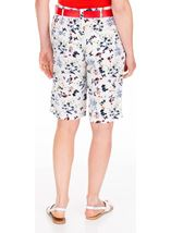 Anna Rose Floral Printed Belted Shorts White/Multi - Gallery Image 2