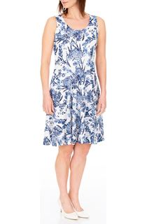 Anna Rose Floral Print Textured Sleeveless Dress