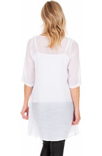 Lightweight Open Cover Up - White