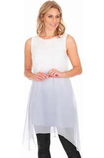 Sleeveless Ombre Dip Hem Tunic