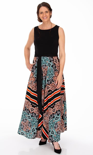 Tile Printed Sleeveless Maxi Dress Multi - Gallery Image 1