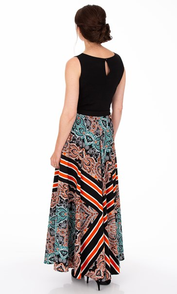 Tile Printed Sleeveless Maxi Dress Multi - Gallery Image 2