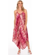 Strappy Lightweight Printed Harem Jumpsuit