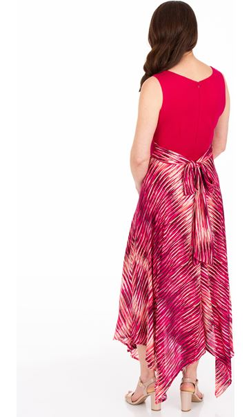 Sleeveless Hanky Hem Maxi Dress Cerise - Gallery Image 2