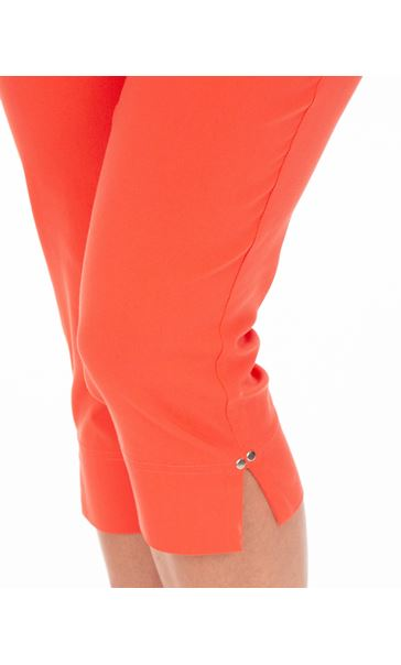 Fitted Cropped Stretch Trousers Papaya - Gallery Image 3