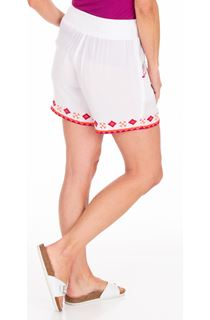 Embroidered Crinkle Shorts